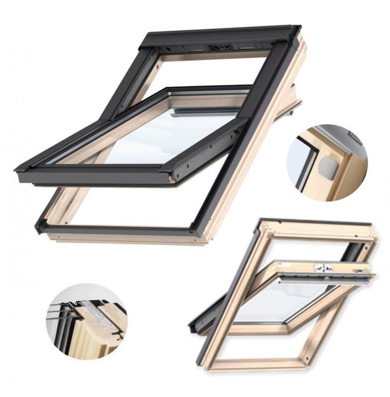 velux dachfenster gll 1061 3 fach verglasung uw 1 1 schwingfenster aus holz mit dauerl ftung. Black Bedroom Furniture Sets. Home Design Ideas