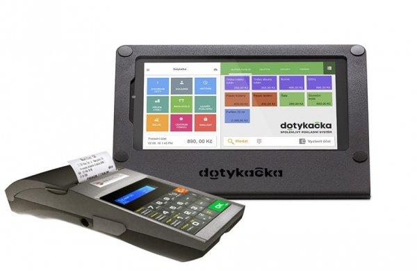 Zestaw POS: Dotykačka Mobilna + drukarka fiskalna Novitus Deon E