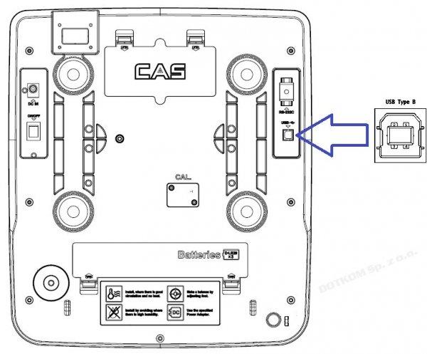 OUTLET Waga CAS PR-II (PR-2) 15B USB