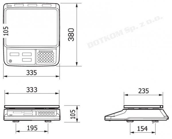 Waga CAS PR-II (PR-2) 15B USB