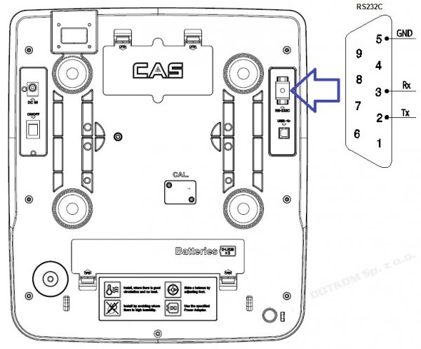 Waga CAS PR-II (PR-2) 15P RS232