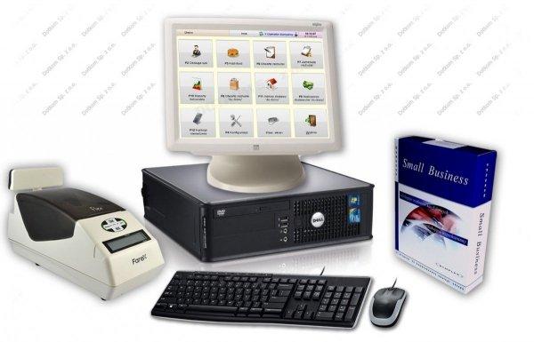 Zestaw: komputer, ekran dotykowy ELO, oprogramowanie Bistro Mini, drukarka fiskalna Farex Flex