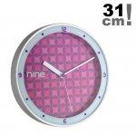 Zegar ścienny TFA 98.1100 wskazówkowy płynąca wskazówka aluminium średnica 31 cm