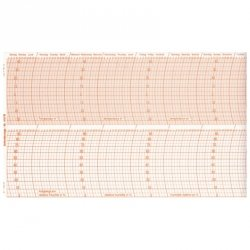 Fischer 410(x) paski rejestracyjne temperatury i wilgotności do samopisów termohigrogram zestaw roczny