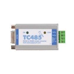 Konwerter przemysłowy sygnału RS232 do RS485 Papouch TC485 izolator galwaniczny