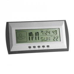 Budzik biurkowy TFA 35.1065 zegar elektroniczny z termohigrometrem