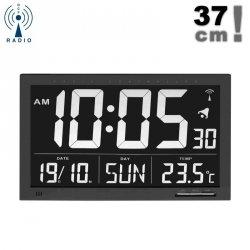 TFA 60.4505 zegar elektroniczny ścienny biurowy sterowany radiowo z termometrem duży 37 cm - ZE ZWROTU