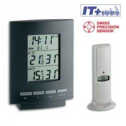 TFA 30.3013 MAXIM II termohigrometr bezprzewodowy z czujnikiem zewnętrznym błyskawiczna transmisja