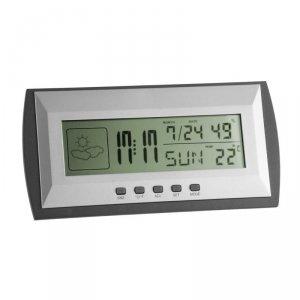 TFA 35.1065 budzik biurkowy zegar elektroniczny z termohigrometrem