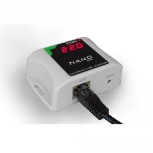 Inveo Nano PoE Termometr internetowy z wyświetlaczem LED miernik temperatury IP Ethernet Modbus TCP
