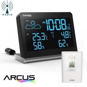 Garni 535 ARCUS stacja pogody bezprzewodowa  z czujnikiem zewnętrznym temperatury i wilgotności