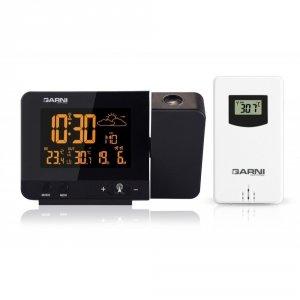 Garni 365 ARCUS stacja pogody bezprzewodowa z czujnikiem zewnętrznym i budzikiem z projektorem