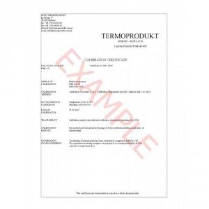 Świadectwo wzorcowania termohigrometru w laboratorium producenta bez akredytacji PCA