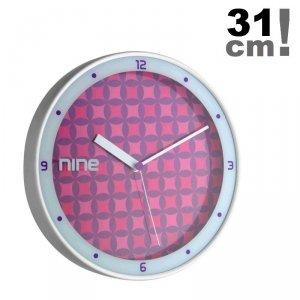 TFA 98.1100 zegar ścienny wskazówkowy płynąca wskazówka aluminium średnica 31 cm