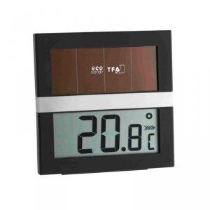 TFA 30.5017 ECO SOLAR termohigrometr domowy elektroniczny wewnętrzny z panelem słonecznym