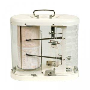 Fischer 425 termohigrograf profesjonalny tradycyjny rejestrator temperatury i wilgotności mechaniczny termohigrometr samopiszący
