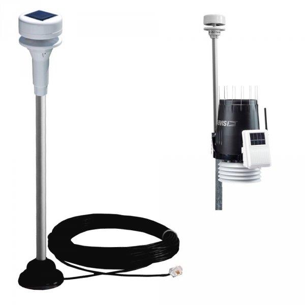 LCJ Capteurs CV7-DZP wiatromierz ultradźwiękowy dwuosiowy mini-anemometr autonomiczne zasilanie do Davis Vantage Pro2