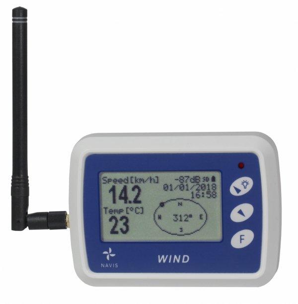 Rejestrator prędkości i kierunku wiatru Navis WL12/WSD anemometr bezprzewodowy z termometrem