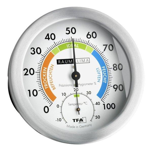 TFA 45.2028 termohigrometr tradycyjny czujnik temperatury i wilgotności mechaniczny włókna syntetyczne 118 mm