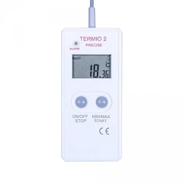 Rejestrator temperatury laboratoryjny TERMIO-2 precyzyjny data logger termometr Pt1000 sonda zanurzeniowa