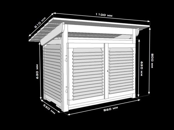 Klatka meteorologiczna Stevensona standardowa IMGW duża