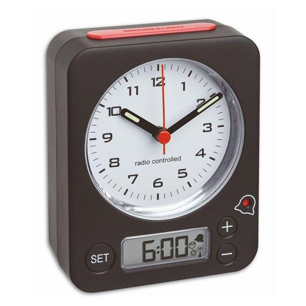 TFA 60.1511 COMBO budzik biurkowy zegarek wskazówkowy sterowany radiowo