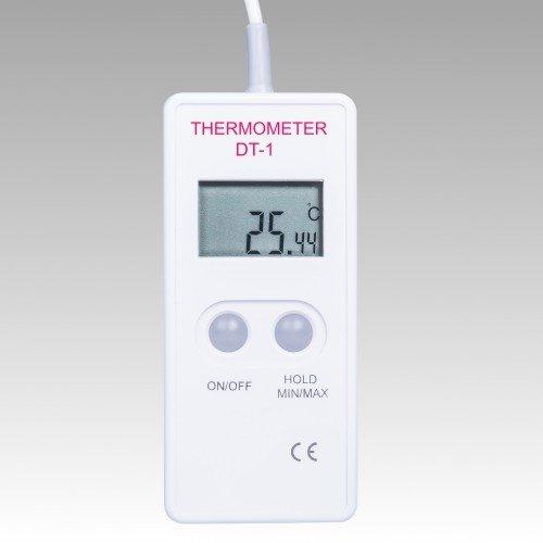 Termometr laboratoryjny DT-1 elektroniczny rezystancyjny Pt1000 z sondą szpilkową bardzo precyzyjny kieszonkowy