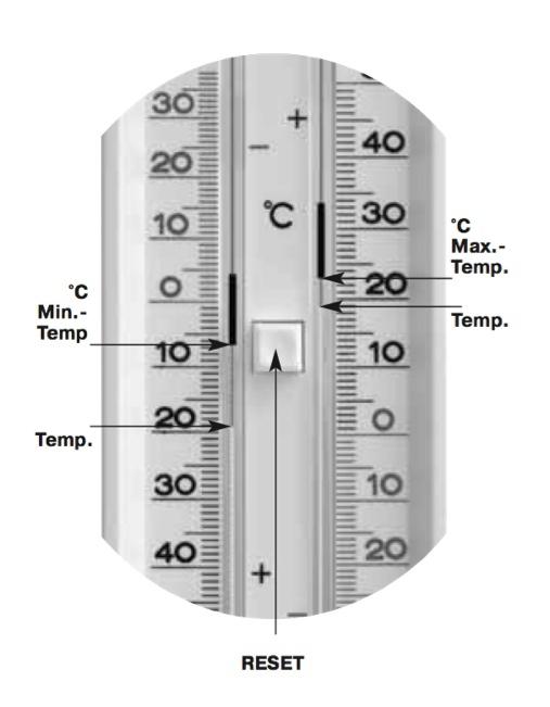 TFA 10.3014 termometr zewnętrzny cieczowy ekstremalny min / max