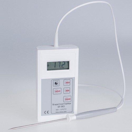 Termometr przemysłowy ST-80 elektroniczny Pt1000 z sondą szpilkową do żywności