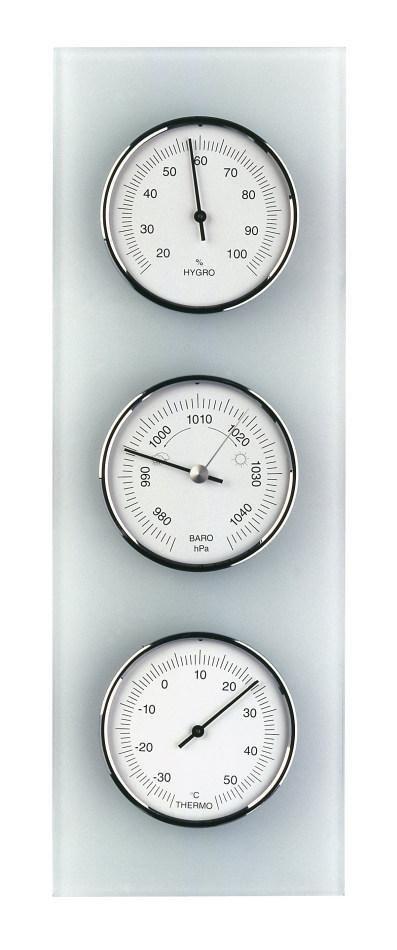 TFA 20.3020 SZKŁO stacja pogody tradycyjna mechaniczna barometr ścienny