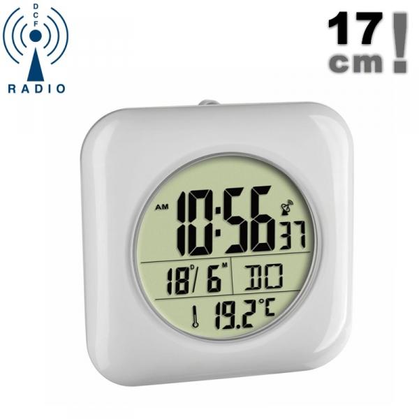 TFA 60.4513 zegar łazienkowy ścienny sterowany radiowo z termometrem 17 cm