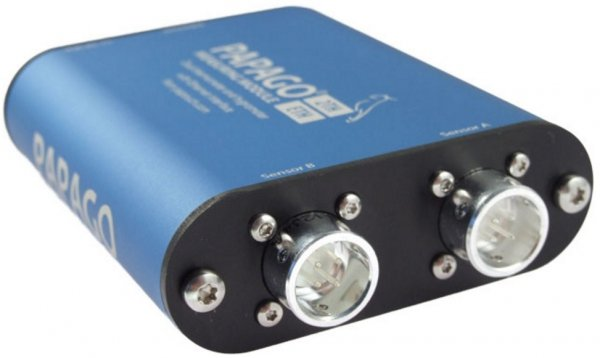 Papouch 2TH_ETH PAPAGO moduł pomiarowy internetowy dwukanałowy zasilanie PoE, Modbus TCP, Ethernet, LAN, IP