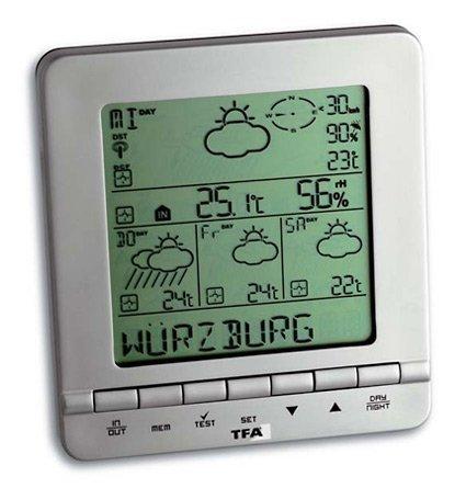 TFA 35.1088 METEOTIME STAR stacja pogody bezprzewodowa z czujnikiem zewnętrznym z prognozą pogody radiową