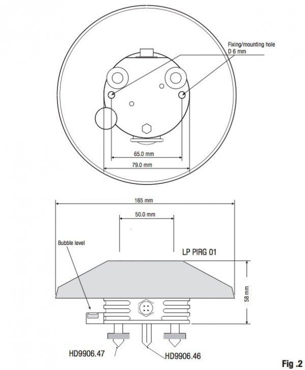 DeltaOhm LP PIRG 01 czujnik promieniowania podczerwonego pyrgeometr termoparowy
