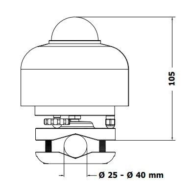Hukseflux SR30 czujnik promieniowania całkowitego pyranometr ISO 9060 Secondary Standard IEC 61724-1 Class A technologia RVH