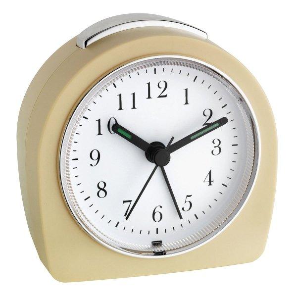 TFA 60.1021 budzik biurkowy zegar wskazówkowy płynąca wskazówka