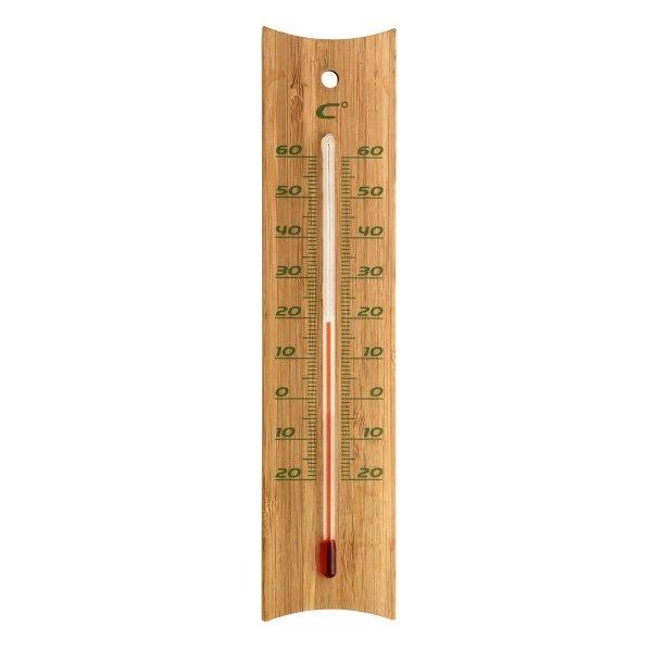 TFA 12.1049 termometr pokojowy cieczowy domowy ścienny bambusowy 200 mm