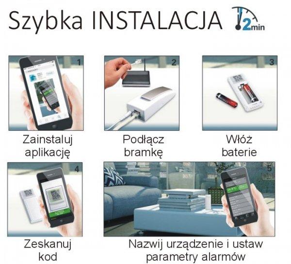 System zdalnego monitoringu Mobile Alerts MA10001 zestaw startowy termometr smartfon