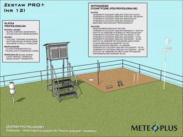 Ogródek meteorologiczny dydaktyczny szkolny edukacyjny MeteoPlus PRO PLUS ON-LINE