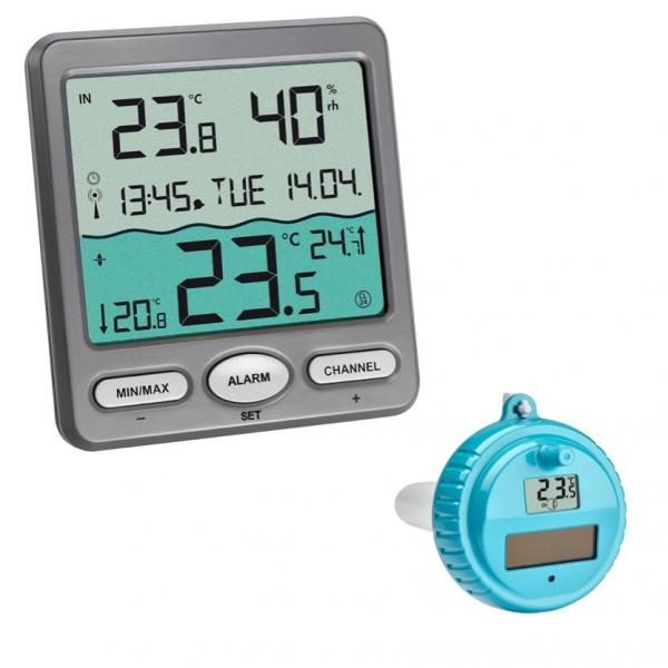 Termometr bezprzewodowy basenowy TFA 30.3056 VENICE z czujnikiem zewnętrznym