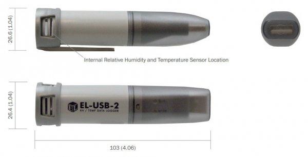 Rejestrator temperatury i wilgotności Corintech USB-TH data logger termohigrometr USB