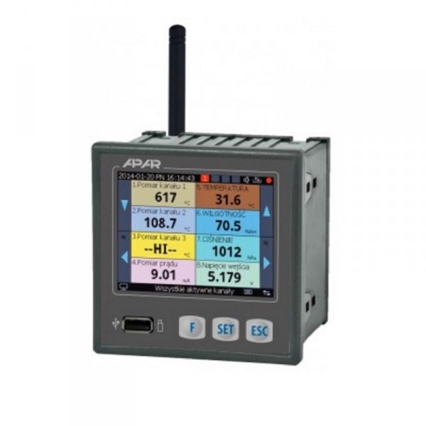 Moduł pomiarowy bezprzewodowy AR407 rejestrator danych odbiornik do 16 czujników