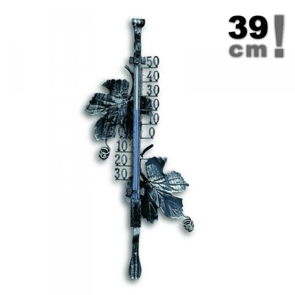 TFA 12.5004 termometr zewnętrzny cieczowy ścienny metalowy duży 38 cm