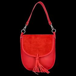 Listonoszka Skórzana VITTORIA GOTTI Made in Italy V556134 Czerwona