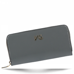 Skórzany Portfel Damski VITTORIA GOTT Made in Italy VG004DG Szary