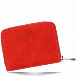 Portfel Skórzany VITTORIA GOTTI Made in Italy V-033S Czerwony