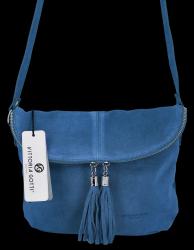 Listonoszka Skórzana VITTORIA GOTTI Made in Italy DB20  Jeans