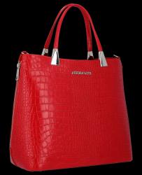 Kuferek Skórzany VITTORIA GOTTI Made in Italy V2393 Czerwony