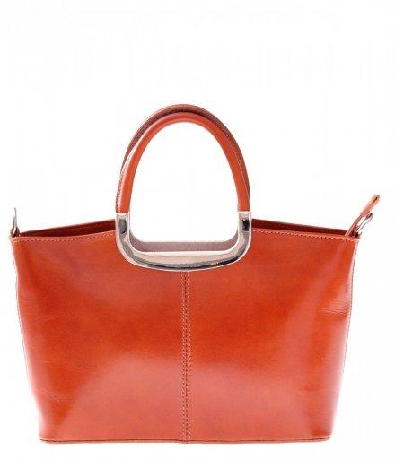 Torebka skórzana Klasyczna Genuine Leather Ruda 430