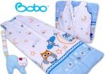 Śpiworek dla dziecka od 2 do 5 lat niebieski w sowy